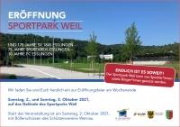 Save the date - Eröffnung Sportpark Weil