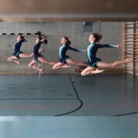 Rhythmische Sportgymnastik in Bewegung