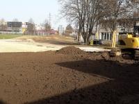 Baustelle Sportpark Weil - Vorplatz SH-Weil