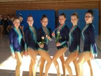 6 der besten Gymnastinnen in Württemberg