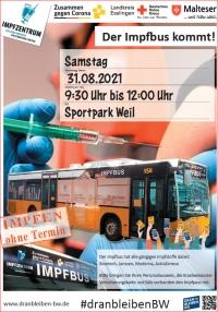 Am Samstag kommt der Impfbus in den Sportpark Weil