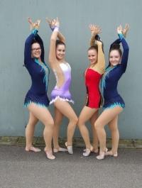Julia, Nicola, Anna-Lena und Lucie beim Mixed WK